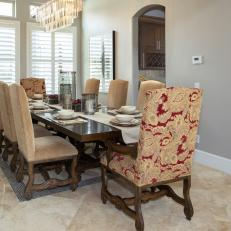 Neutral Dining Room Is Classy, Elegant