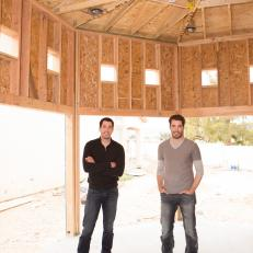 Drew and Jonathan Scott on Construction Site