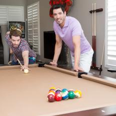 Jonathan and Drew Scott Play Pool