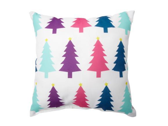 Contemporary Christmas Tree Pillow