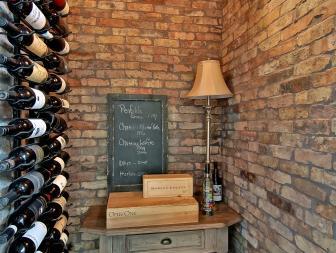 Elegant Brick Wine Cellar