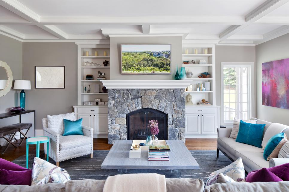 Our 40 fave designer living rooms hgtv How to decorate a house with two living rooms