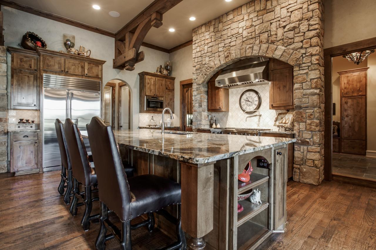 jonas brothers texas home rustic kitchen island hgtv