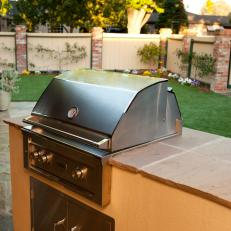 Backyard Patio With Mediterranean Grilling Station