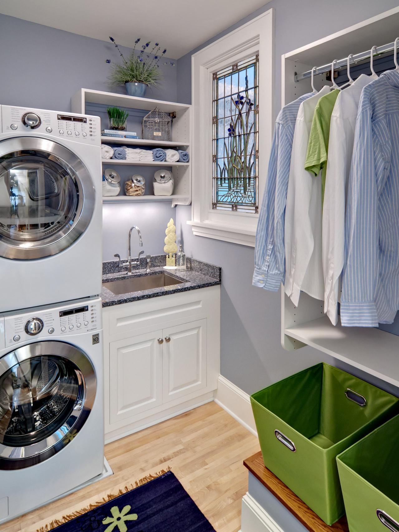 6 tips for storing laundry supplies hgtv - Laundry room design ideas ...