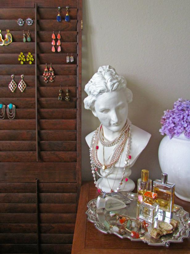 Reclaimed Shutter Jewelry Display