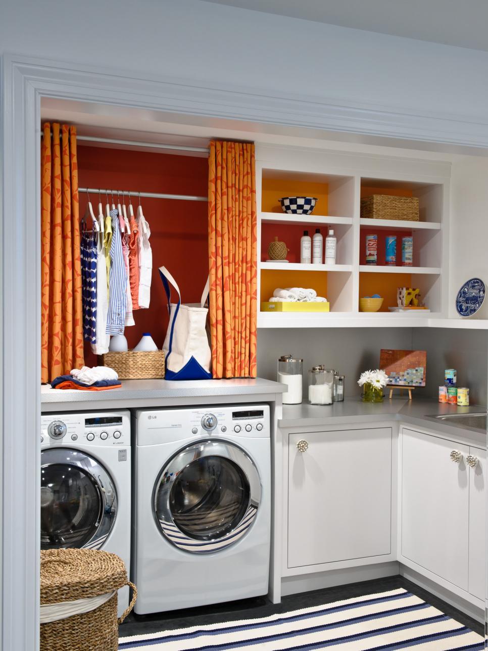 8 tidy laundry rooms that make washday fun hgtv