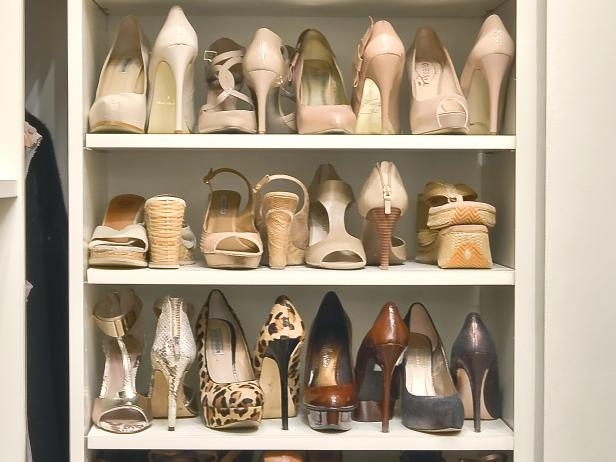 Save Space by Storing Shoes Heel to Toe