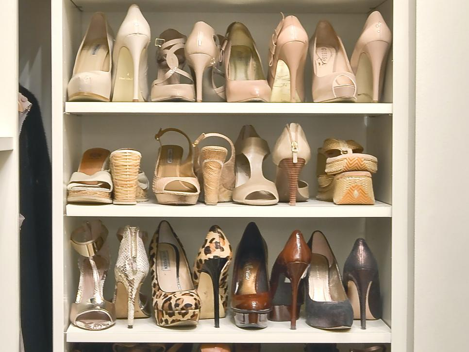 8 clever shoe storage tips hgtv Living room shoe storage ideas