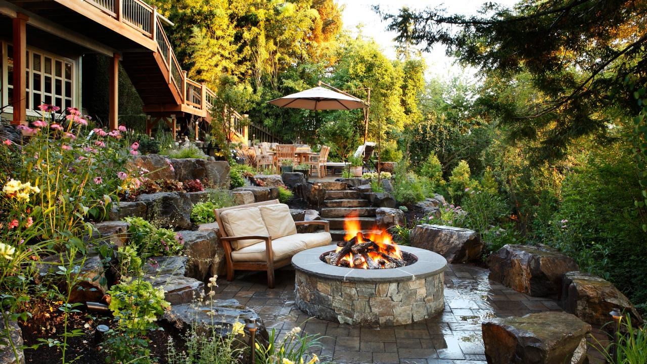 Fire pit design ideas outdoor spaces patio ideas for Patio landscaping