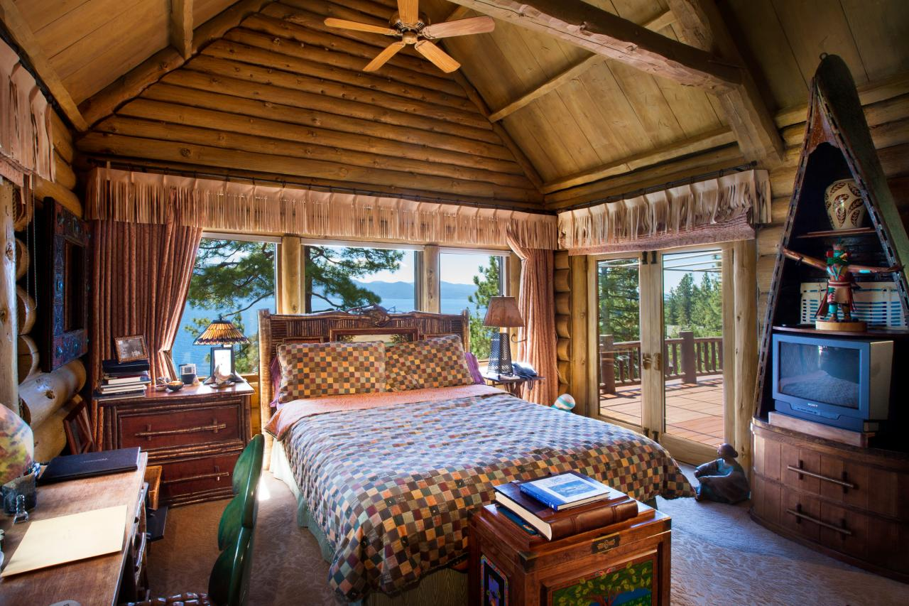 Cabin Style Bedroom Howard Hughes Summertide Nevada Estate This