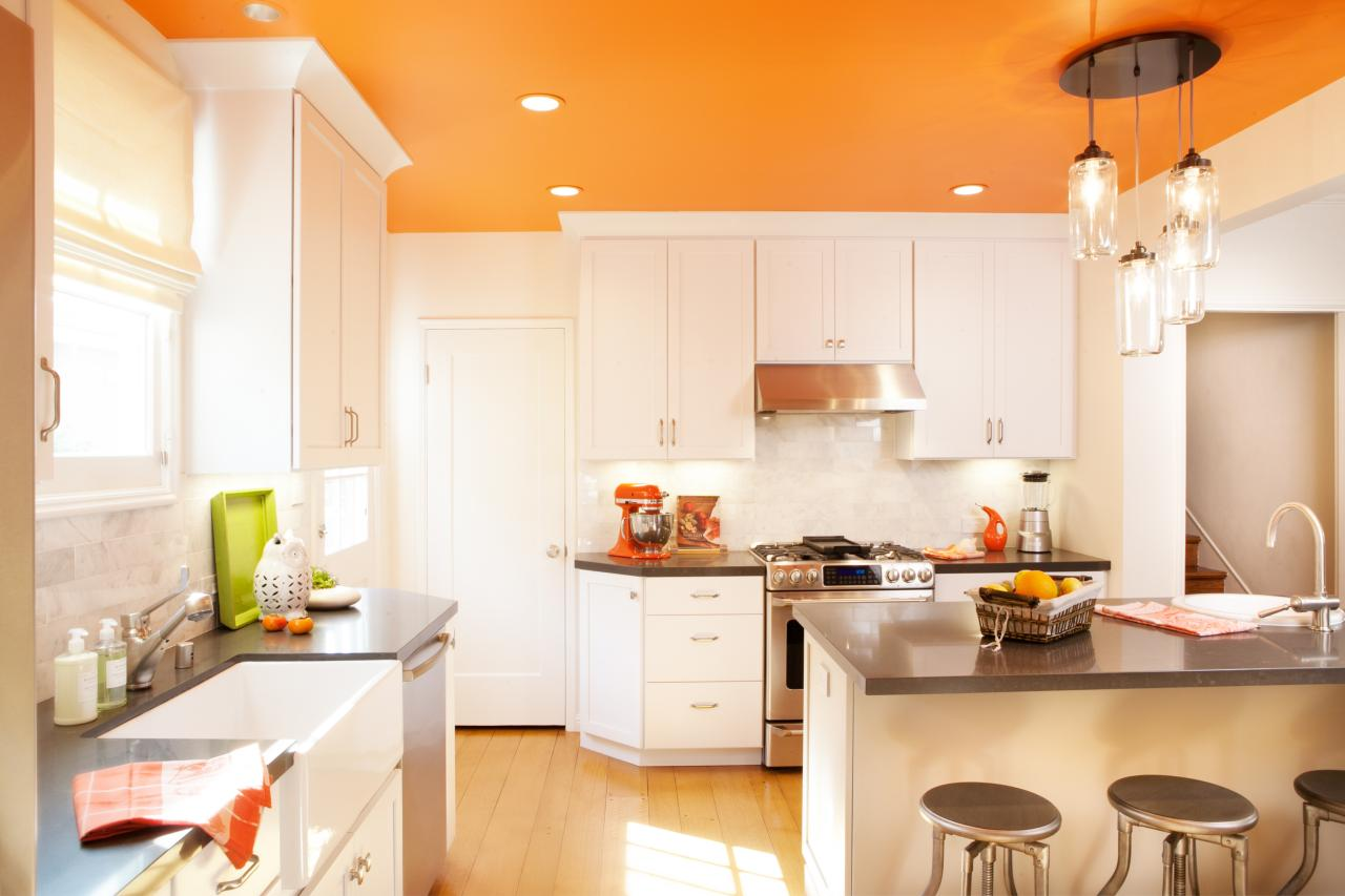 Orange And White Kitchen Orange Kitchen Island Quicuacom