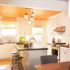 White Kitchen Orange Accents photos | hgtv