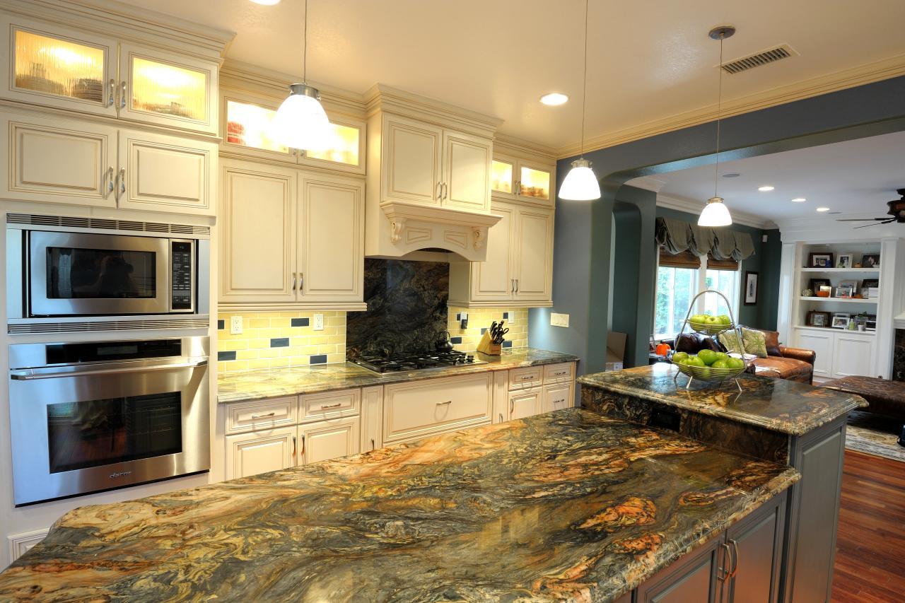 Colourful Kitchen Inspiration Black Countertop