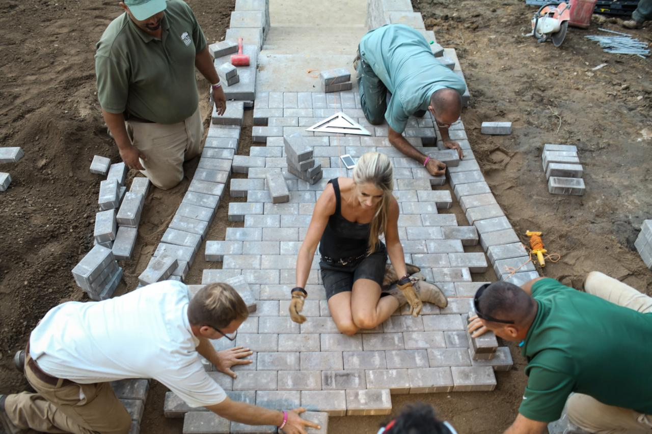 Nicole curtis crew build brand new walkway nicole curtis and