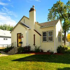 Yellow stucco house pictures