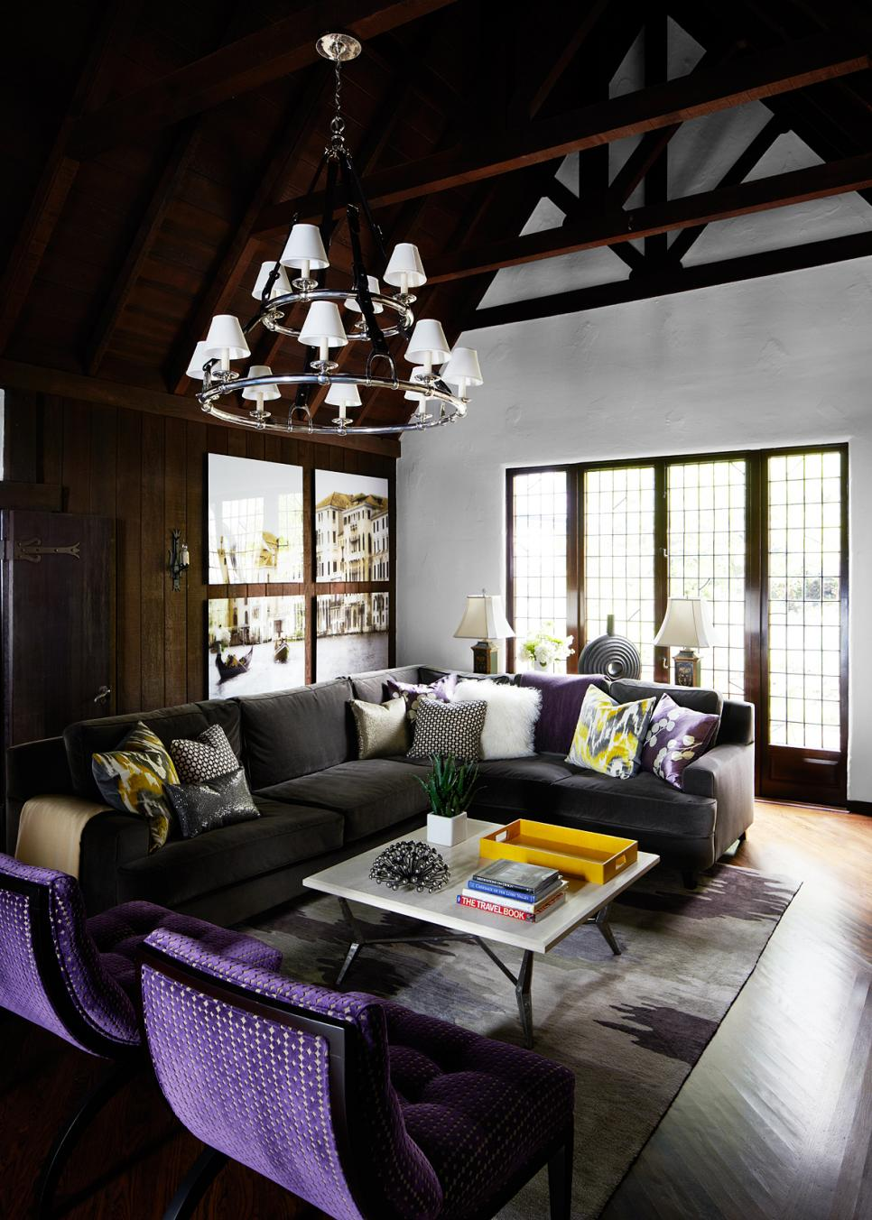 English tudor inspired living room in san francisco for Tudor interior design