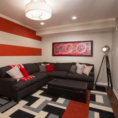 Cinema-Inspired Basement Theater Room