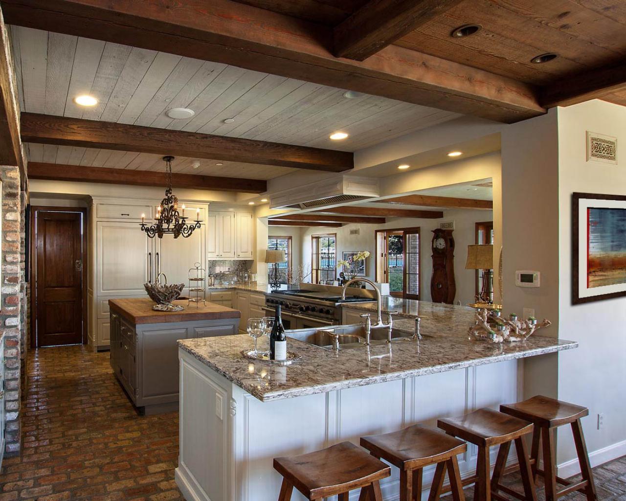Cottage Kitchen With Brick Floor Hgtv
