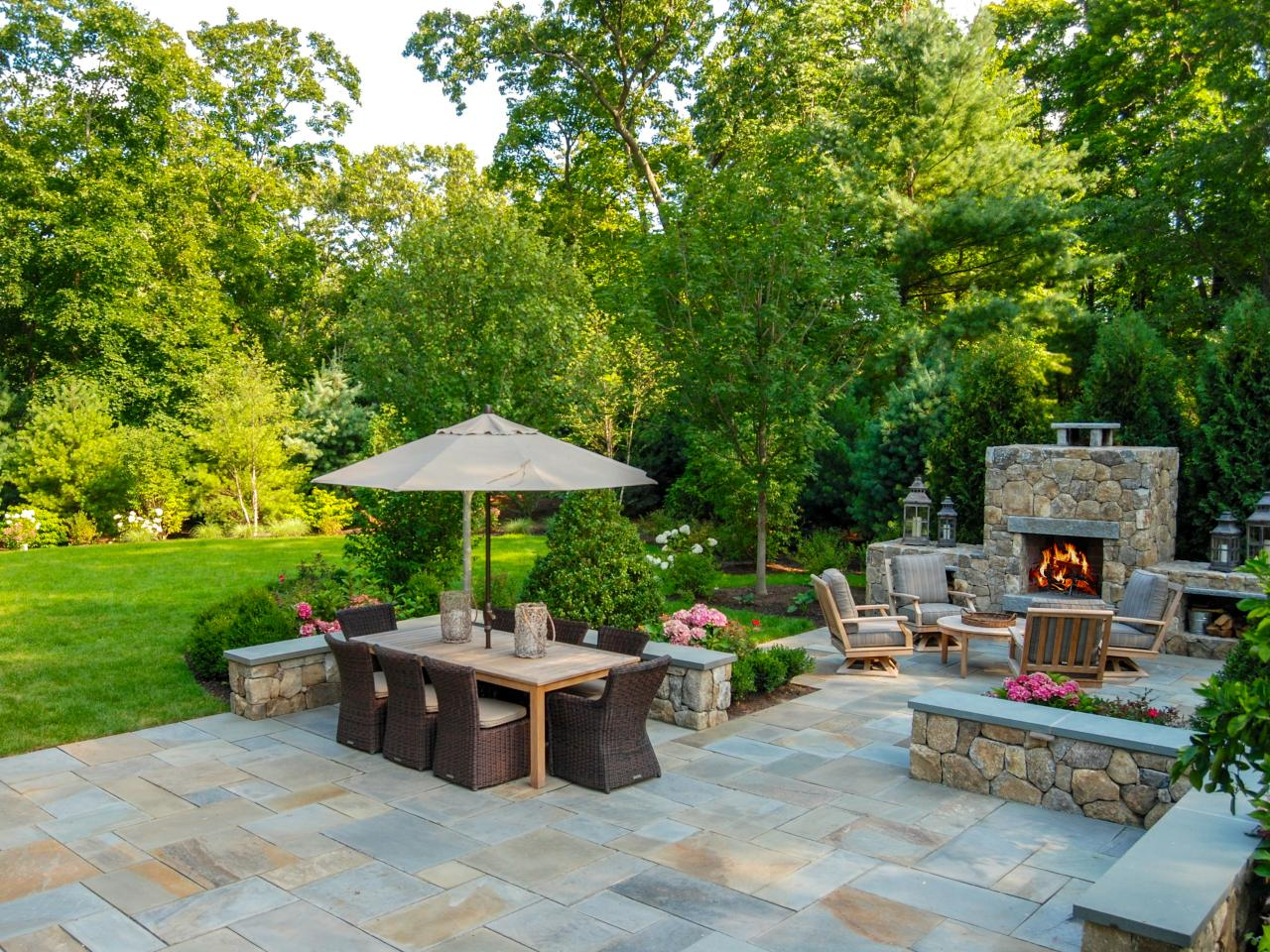 Photos hgtv for Patio landscaping