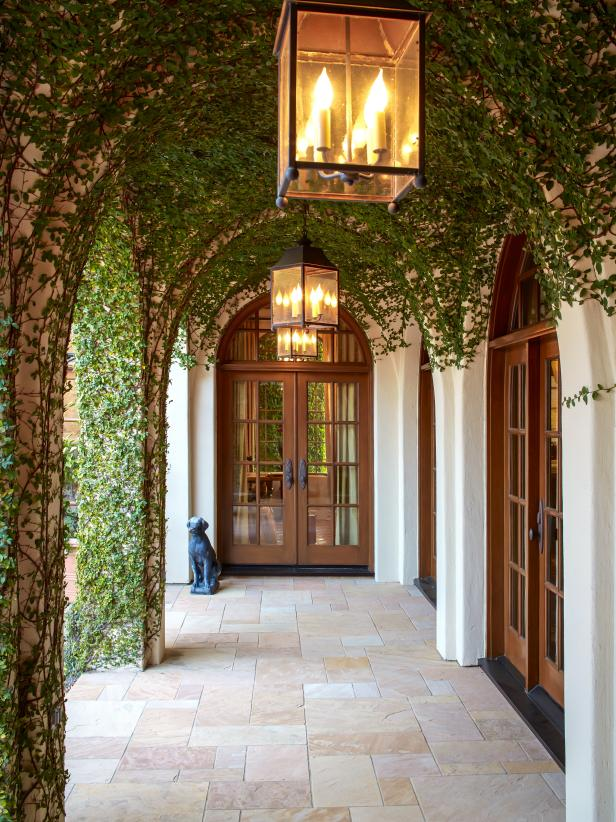 Vine-Covered Arched Entryway