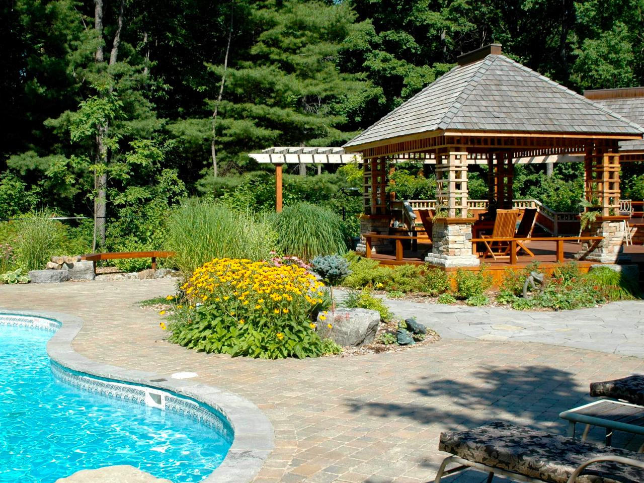 20 wow worthy hardscaping ideas landscaping ideas and for Backyard landscaping with pool