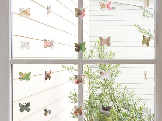 Butterfly Window Garland
