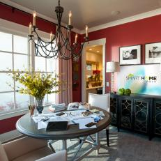 HGTV Smart Home 2014 Dining Room An Explosion Of Color
