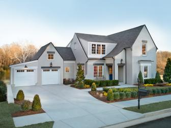 Gray and White Front Home Exterior