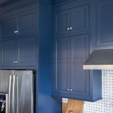 Custom Navy Blue Kitchen Cabinets