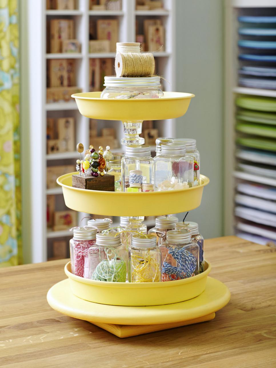 Craft And Sewing Room Storage Organization HGTV