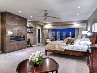 Neutral Colors, Mix of Styles Create Soothing Master Bedroom