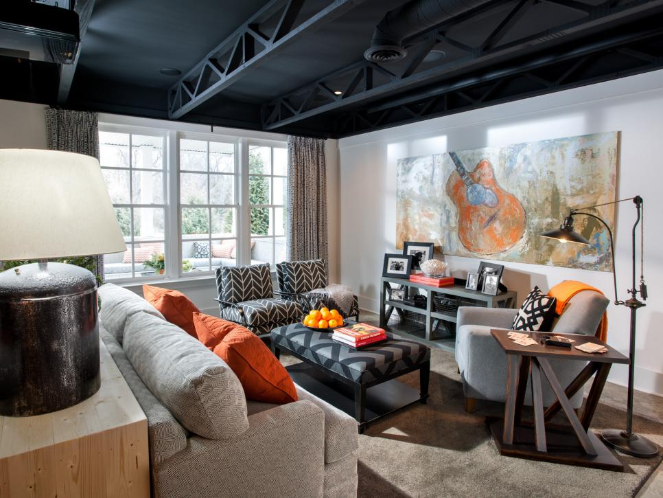 Home Basement Designs Interior Interesting Basement Rec Room Pictures From Hgtv Smart Home 2014  Hgtv Smart . Inspiration