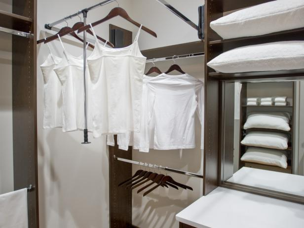 Master Closet With Custom Built-In Storage System