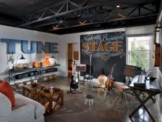 Rockin' Music Lounge With Chalkboard Focal Wall