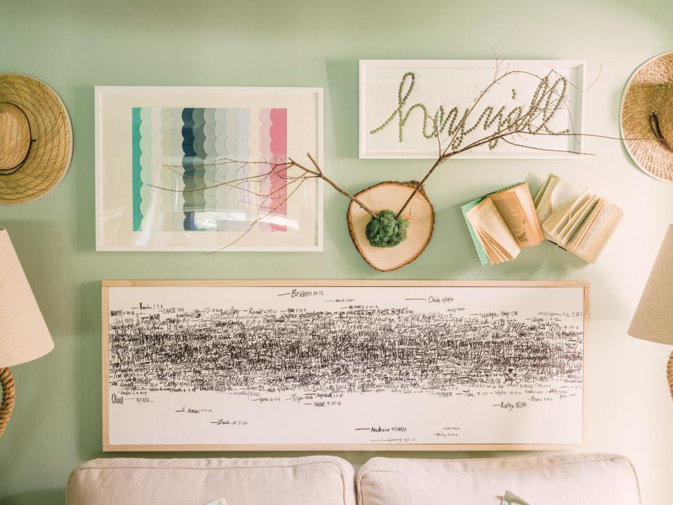 Diy art ideas hgtv Simple wall art