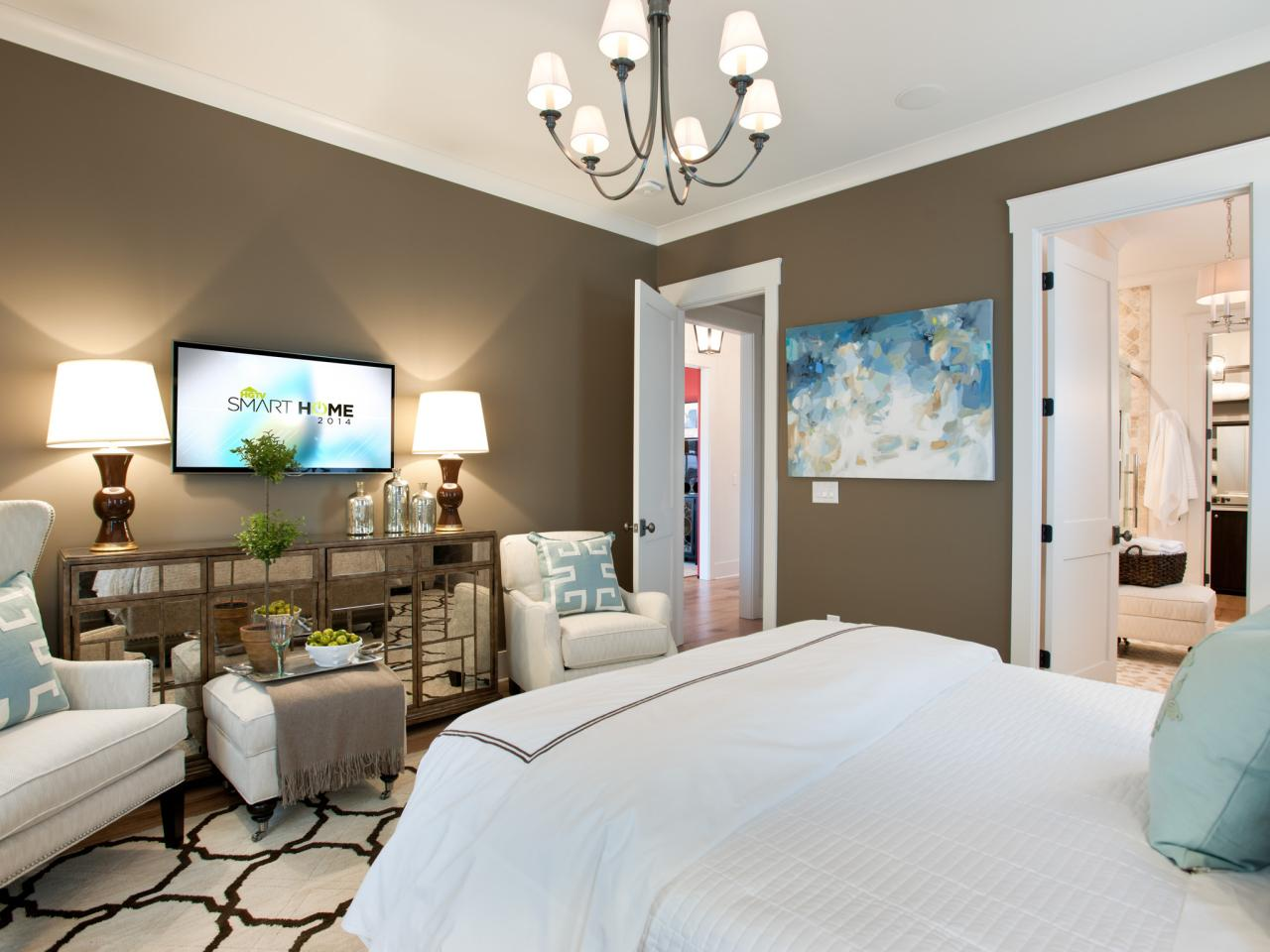 Master bedroom from hgtv smart home 2014 hgtv smart home for Master bedrooms