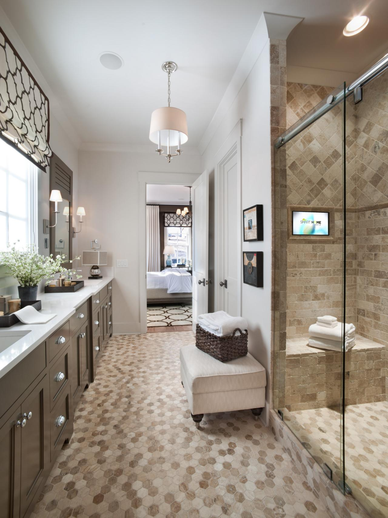Master bathroom from hgtv smart home 2014 hgtv smart Master bathroom tile floor