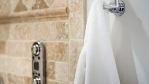 Digital Shower Control in Spa-Like Master Bathroom