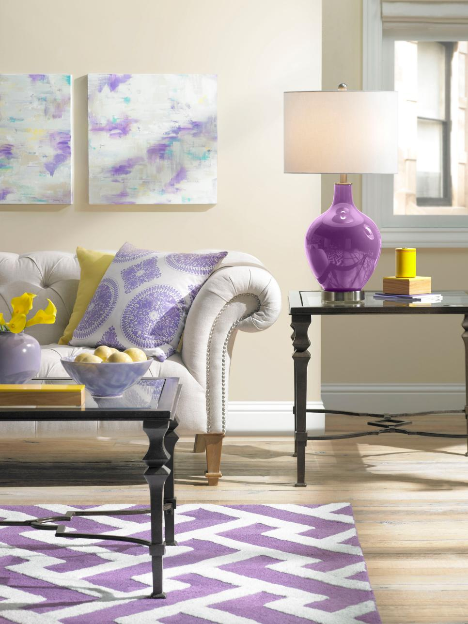 Designer Tricks For Picking A Perfect Color Palette HGTV - Bedroom for couples with dark purple color schemes with purple carpet