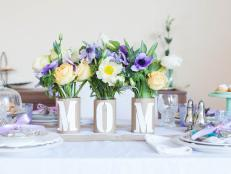 "Kids' Craft: ""Mom"" Centerpiece for Mother's Day"