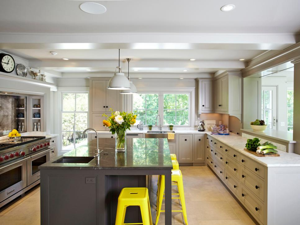 15 design ideas for kitchens without upper cabinets hgtv the sky s the limit