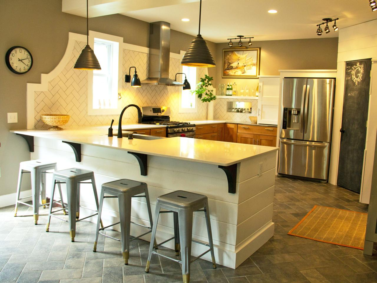 Photos hgtv for Kitchen ideas no island