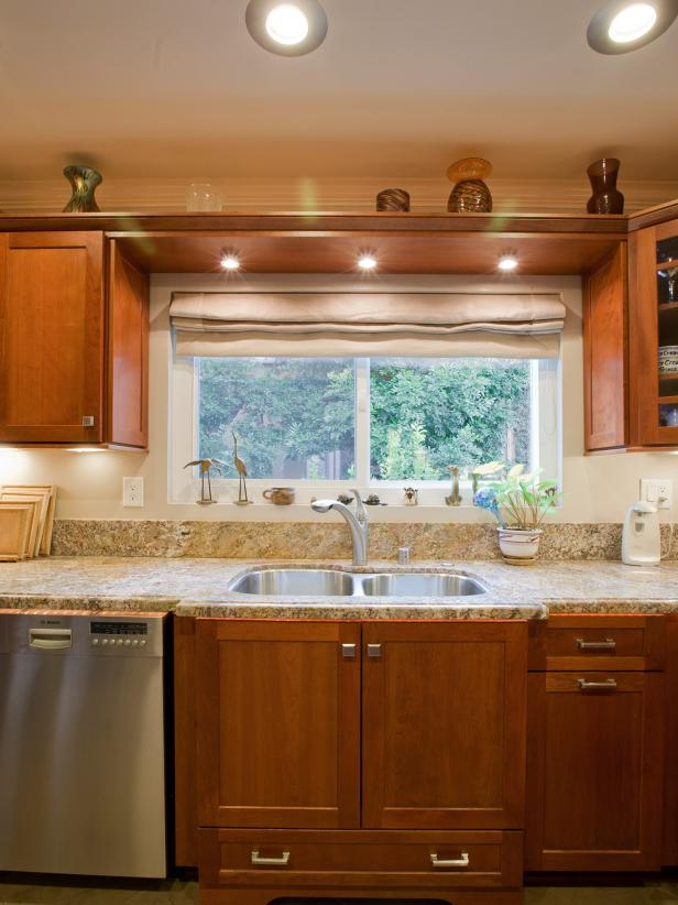 Kitchen With Wood Cabinets, Granite Counters and Recessed Lighting