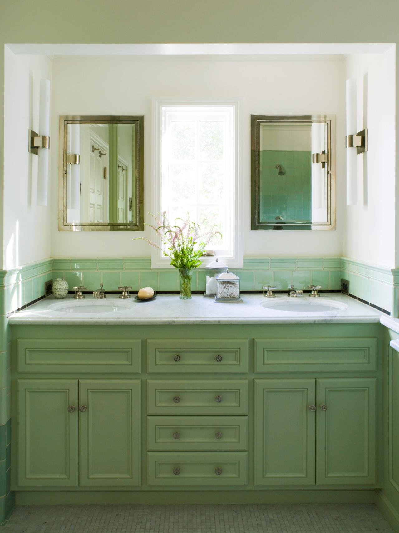 Green Bathroom Photos HGTV