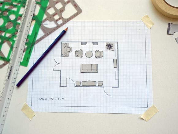Design Layout Of Room how to create a floor plan and furniture layout | hgtv