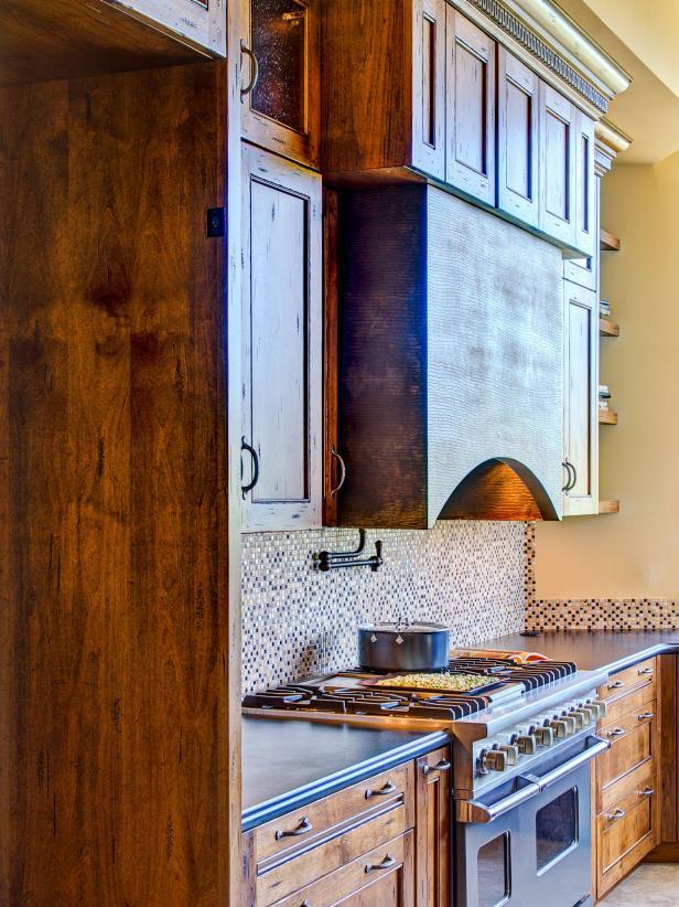 Southwestern Kitchen With Mosaic Tile Backsplash