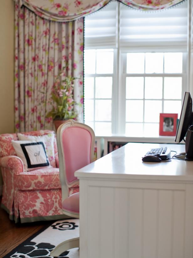 Pink Traditional Homework Space for a Tween Girl