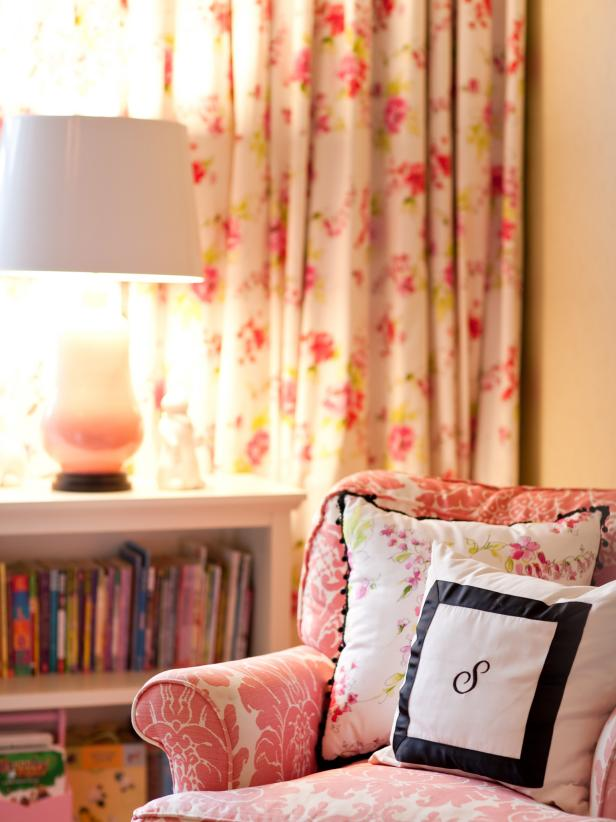 Pink Armchair in Tween Girl's Bedroom