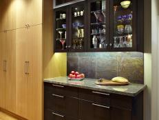 Light and Dark Cabinets in Contemporary Kitchen